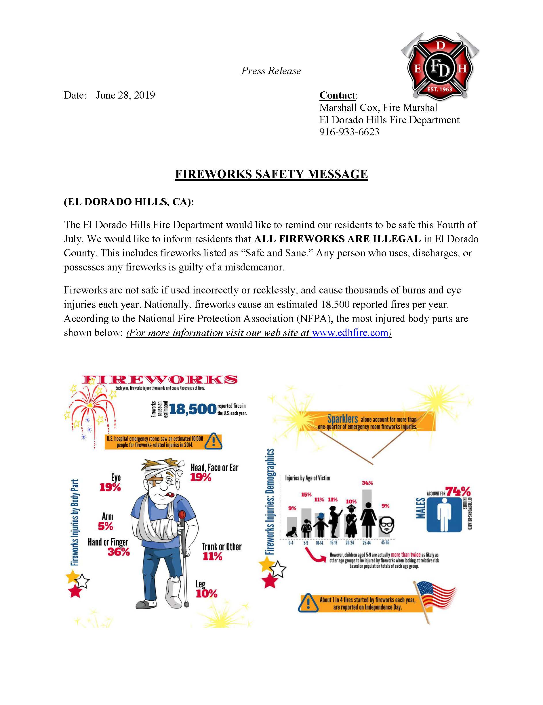 2019 Fireworks Press Release Page 1